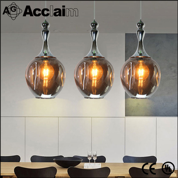 hot modern living room smoke gray glass pendant lamp