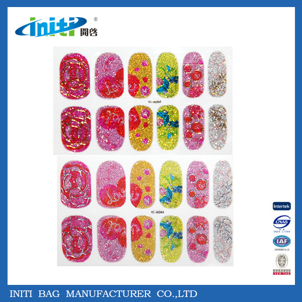 Strip Pattern printed nail stickers polished wrap Colorful nail foils