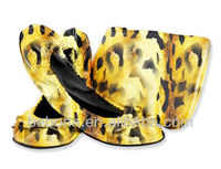 2013 Cool Casual Women Fold Up Shoes In Bag for shopping/after party