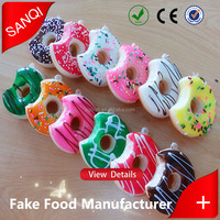 Best selling fake food artificial donut as magnets or key chains for presents gifts