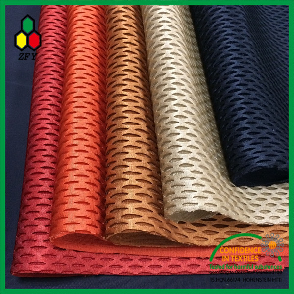 2017 latest arrive and free sample polka dot mesh fabric