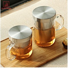 ZGJGZ Glass Infuser Tea Pot 350ml Teapot/Cup High Borosilicate Glass Teapot