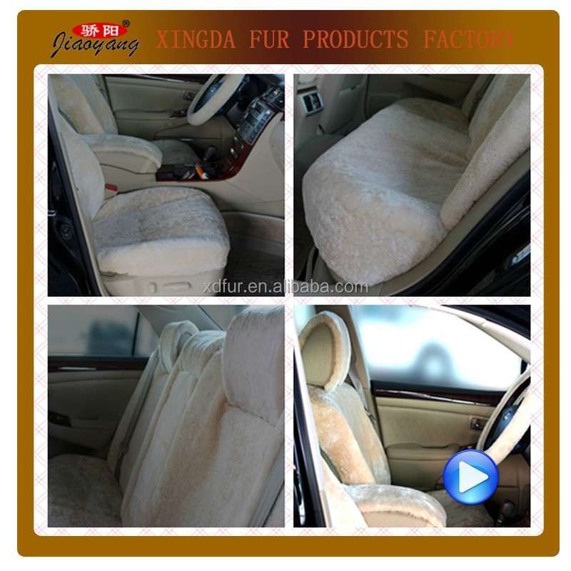 Warm lambskin wool car seat cover