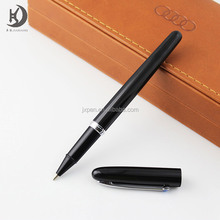 High end Luxury classic black metal pen with silver clip custom logo gift ball pen