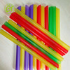 Customized Color Food Grade Large Plastic Straw for Drinking Cup Colored Bubble Boba Straw Hard Plastic Straw