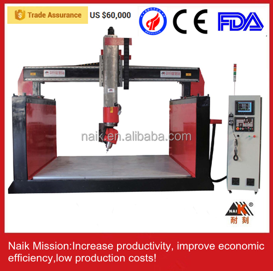 3d 5 axis wood cnc router carving EPS processing center ,styrofoam cutting machine,eps cnc router
