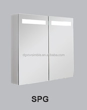 anti scratch bathroom shaving mirrored cabinet with light