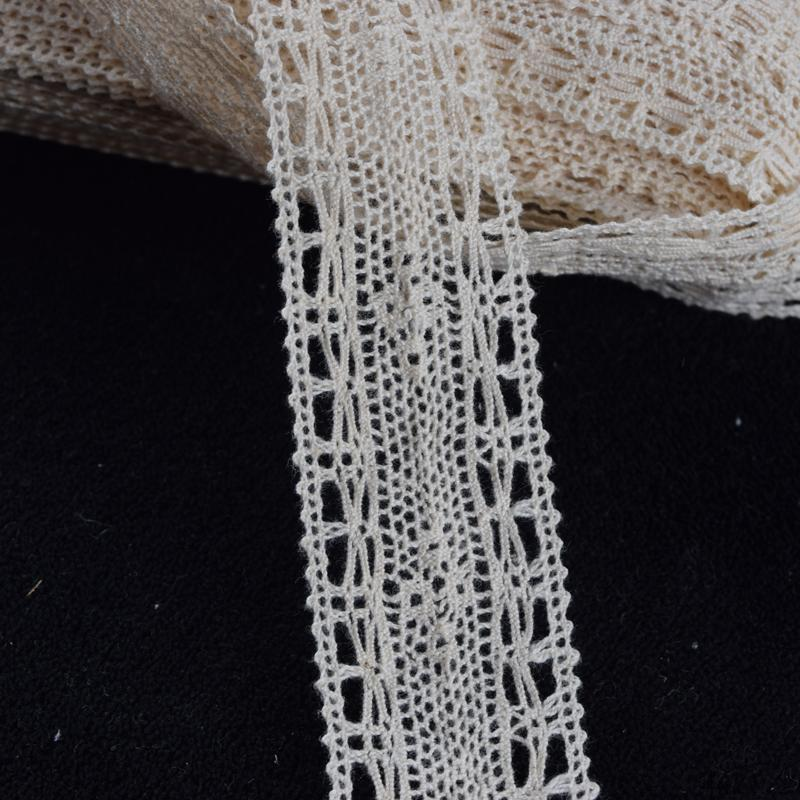 Ivory crochet 100% cotton lace trim