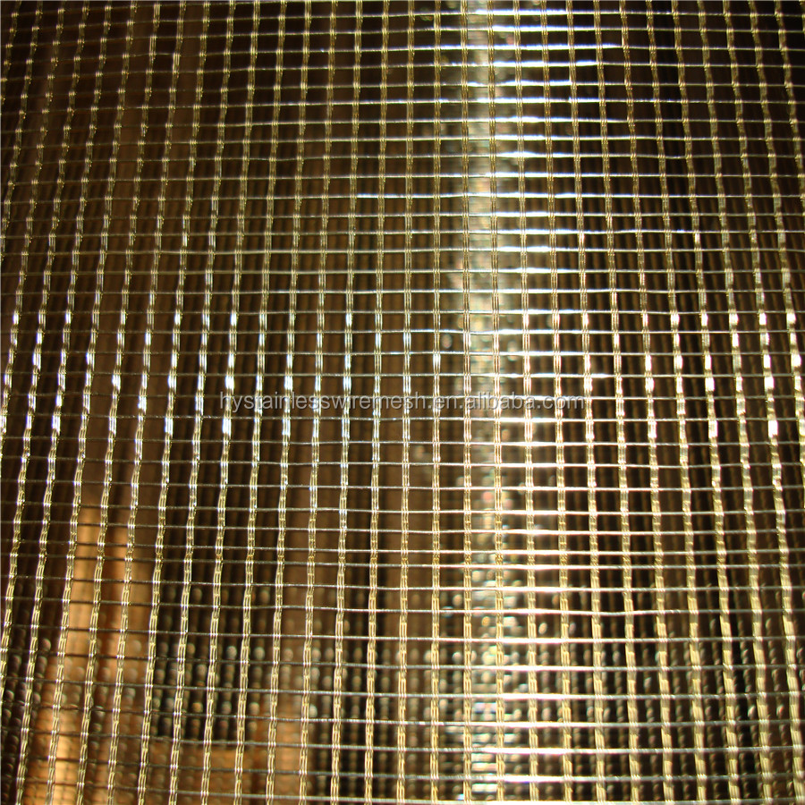 High quality beautiful Phosphor bronze copper wire decorative wire mesh for cabinets