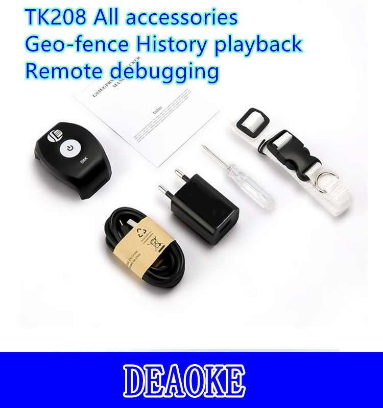 Professional micro pet gps tracker with Geo-fence function TK208