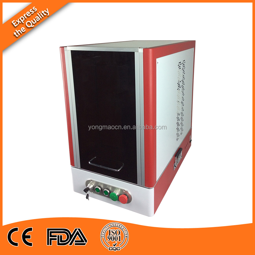 20W Germany market hotsale cabinet safty fiber <strong>laser</strong> marking and engraving machine for metal with computer