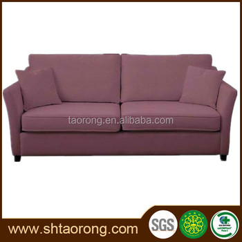 wooden living room sofa with soft cushion