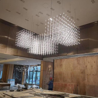 Modern Crystal Chandelier Lighting Glass acrylic pendant lamp
