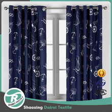 Different colors ready made printed kitchen curtain