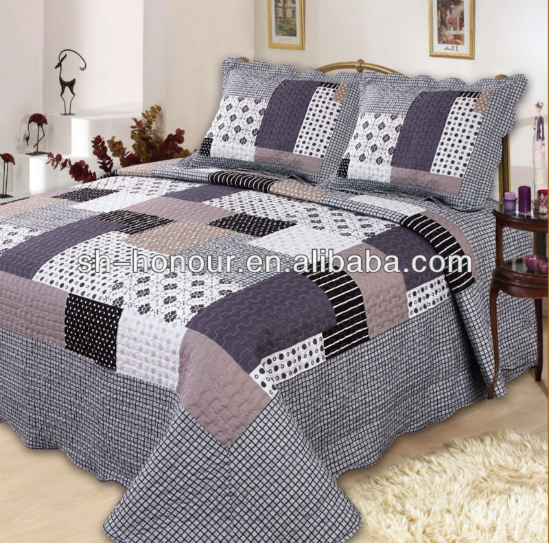 100% Cotton/Polyester Patchwork Bedsheets Duvet Cover