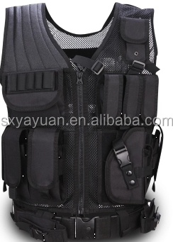 Multifunctional tactical summer air net black combat vest