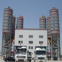 HLS240 cement and concrete batching plant popular in Russian