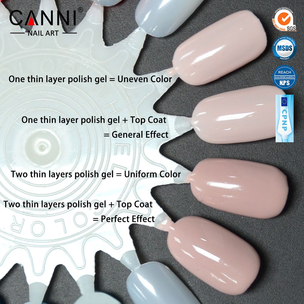 #30917X Wholesale CANNI 7.3ml New Color Non-toxic Odourless Organic Environmental Healthy Enamel uv gel polish for nails