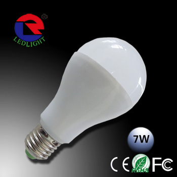 High brightness Europe standard Aluminum led bulb dimmable 7w E27 B22 E14 Base