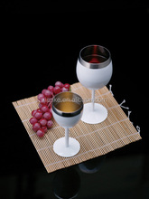 Custom stainless steel martini cup metal printing wine goblet wholesale