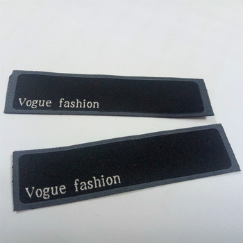 high quality  organic cotton high density 120 D custom clothing woven label