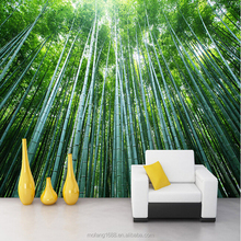 New home hotel wall decoration 3d wallpaper for home decoration bamboo design mural wallpaper 3d effect customize