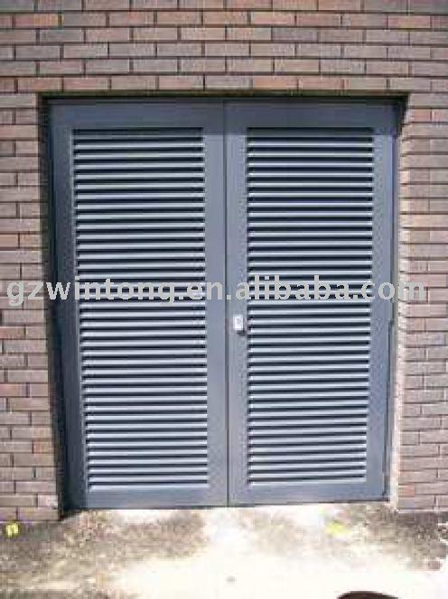 Aluminum Louvered Exterior Doors exterior louvered door metal