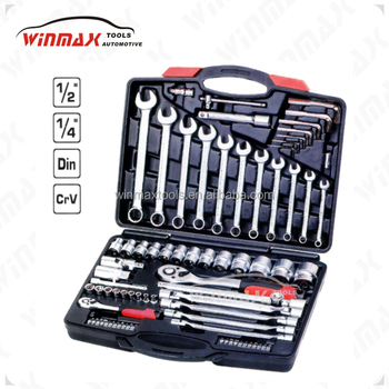 "1/2"" 1/4"" ratchet combination socket wrench set"