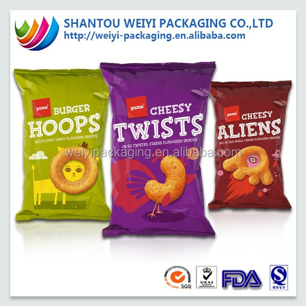 Gravure printed inflatable packaging auto pouch for chips