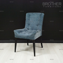 Fabric hotel room cushioned chair velvet restaurant dining chairs