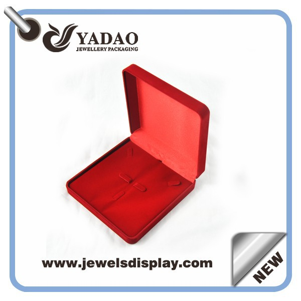 Pendant combined ring flocking jewerly box with custom size and color