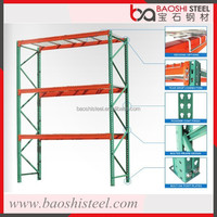 Storage racking system for supermarket and warehouse use