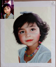 Photography to portrait handmade oil painting wall art
