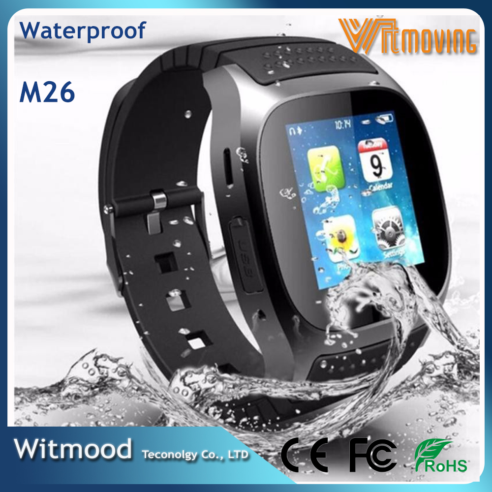 China Factory Wholesale Bluetooth Smart Watch Waterproof M26 Support IOS Android Smart Watch Cheap price