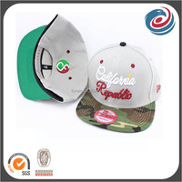 fashion young style 3D embroidery contrast sewing flat bill hat