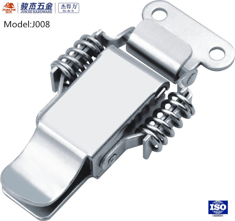 Door eccentric spring toggle latch for truck body parts