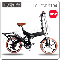 MOTORLIFE/OEM Fashionable 250w folding mini electric scooter folded electric bicycle