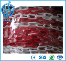 6mm 8mm warning chain plastic chain safety chain red white