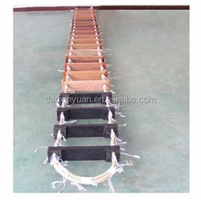 Marine emergency rope climbing ladder