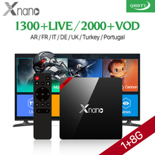 XNANO X96 PRO Media Player Arabic Channel Set Top Box Subscription Free IPTV Live Arabic IPTV Receiver TV Channels QHDTV 1 Year