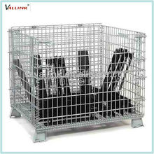 Foldable Metal Cage Industrial Steel Collapsible Crate