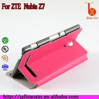 Luxury leather flip mobile phone case Simple style pu for Nubia Z7/NX506J/NX505J leather case