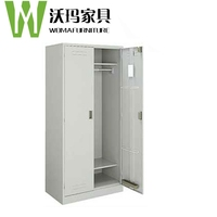 Dressing cupboard Two door clothes cabinet Bedroom cabinet 2 door iron metal lockers