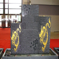 Modern Art Customized Granite Water Fountains Sculpture Water Fountain For Garden Decoration
