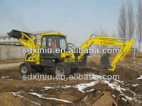 6ton China tire excavator cheap backhoe loader for sale