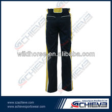 Man dye sublimation cricket pants