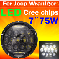 Factory directly wholesale offroad 4x4 accessories Jeep headlamp led headlight 75W for jeep wrangler jk