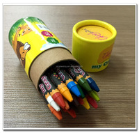 kids crayons in bulk 24pcs packed in recycle box with ASTM D4236 and EN71