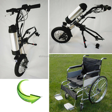 wheelchair attachment handcycle 36v 350w electric wheelchair conversion kit for handicap
