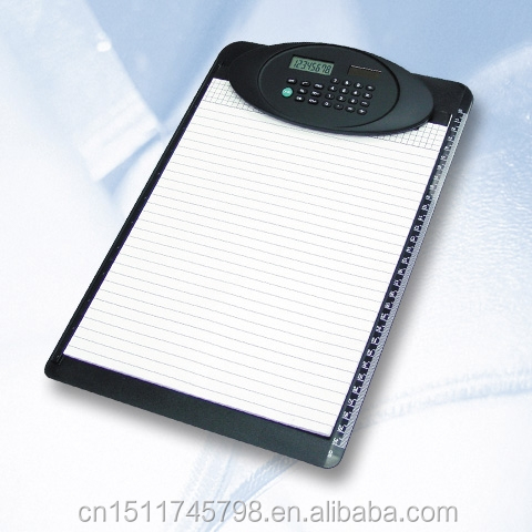 Functional Combined A4 stationery solar calculator clipboard auto power off